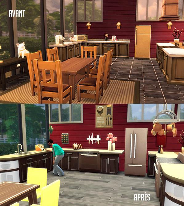 Objets sims 4 en cuisine