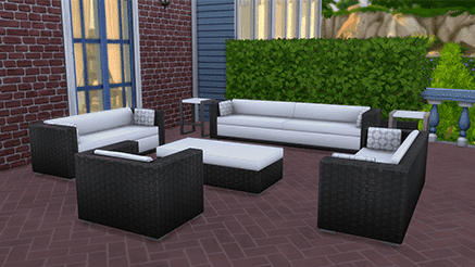 Objets sims 4 ambiance patio