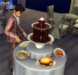 Fontaine à chocolat sims 4 soirées de luxe