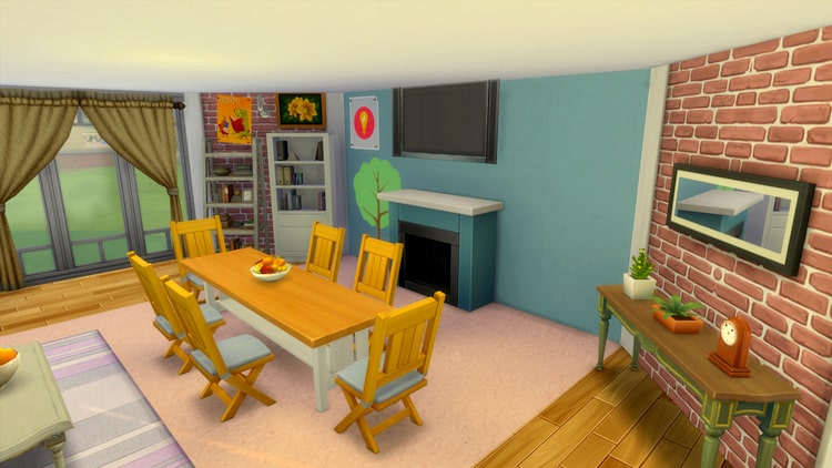 Inspiration pièce cosy sims 4