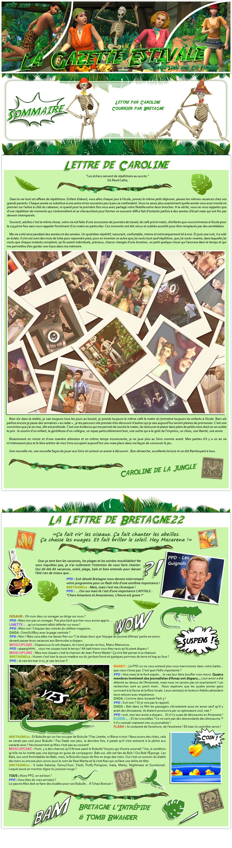 Gazette estivale 1 Gazettehs1