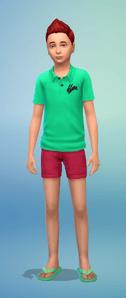 Des tenues d'été pour les enfants Sims