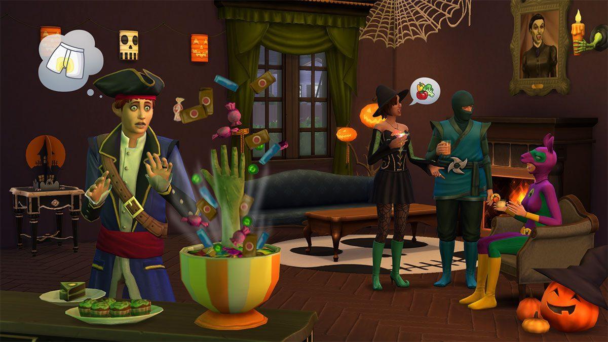 , Les Sims 4 Accessoires Effrayants arrive sur consoles