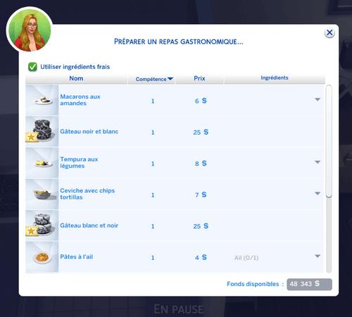 Préparer recette repas gastronomique