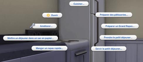 Choix frigo Sims 4