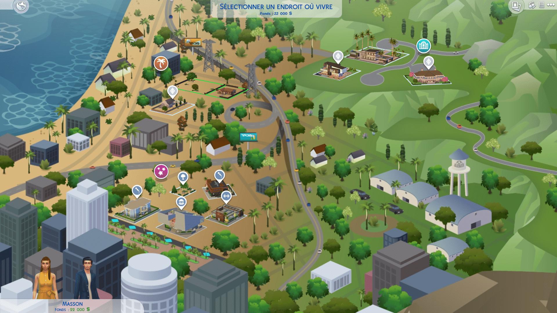 Carte Del Sol Valley Sims 4 Heure de Gloire