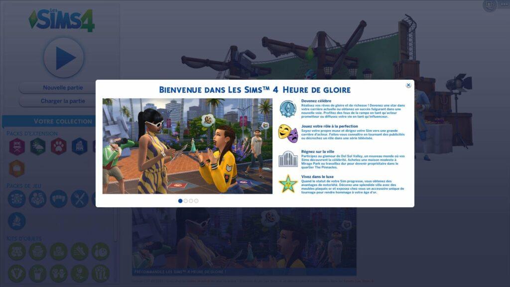 Accès anticipé Les Sims 4 Heure de Gloire