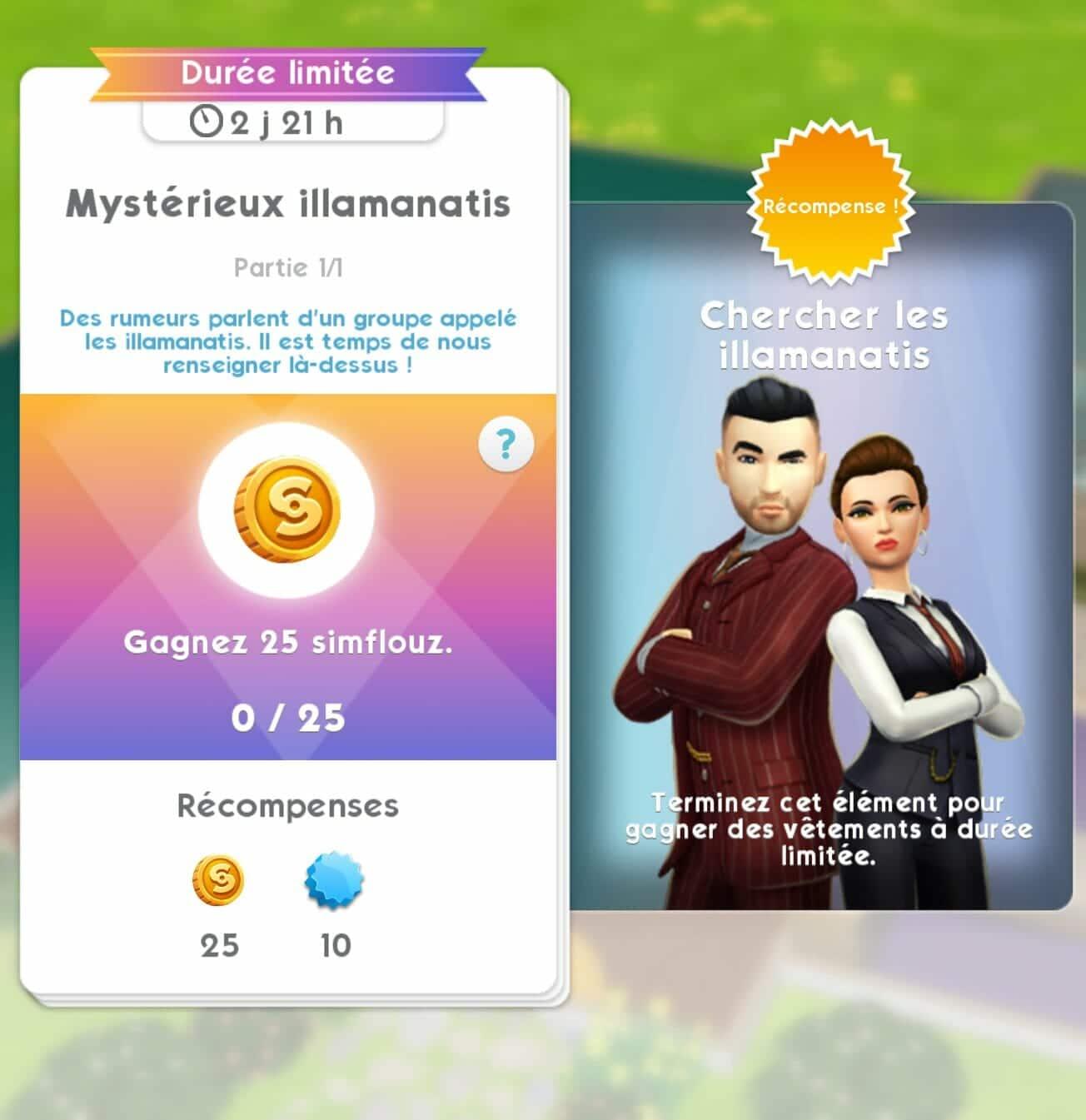 Les Sims Mobile : La quête Illamanatis