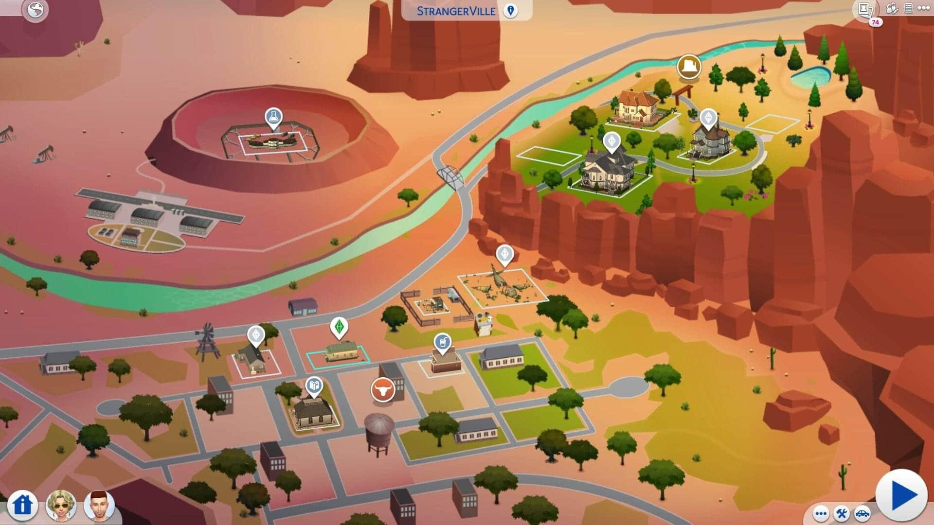 Carte Sims 4 Stranger Ville