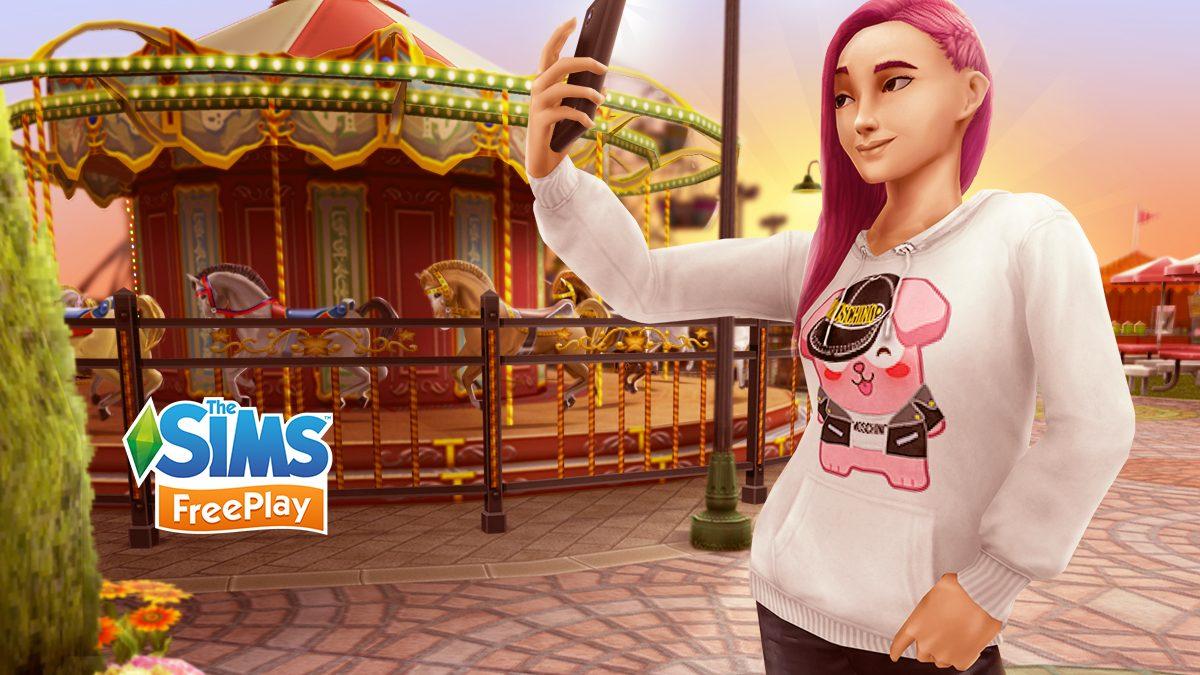 Le sweat à capuche Freezer Bunny de Moschino arrive chez Les Sims
