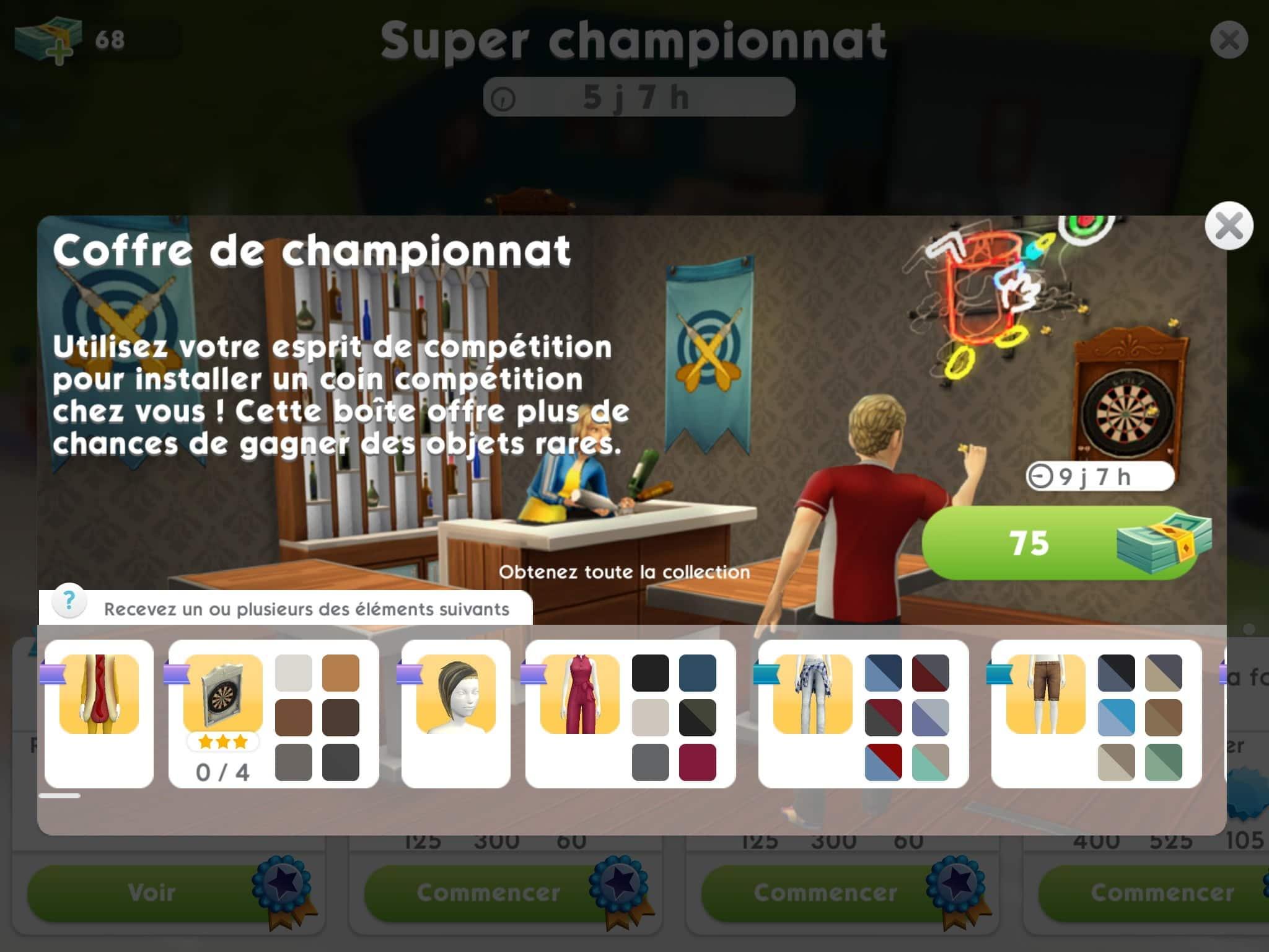 Zoom sur la quête Super Championnat des Sims Mobile