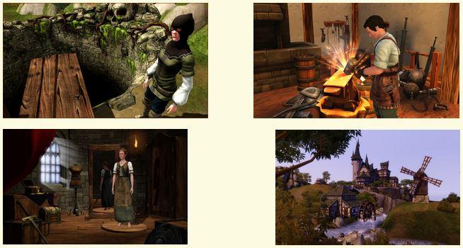 Les habitants des Sims Medieval
