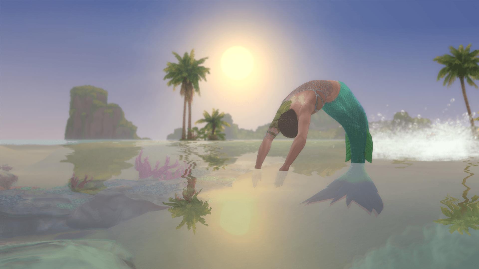 Sirène océan sims 4 iles paradisiaques