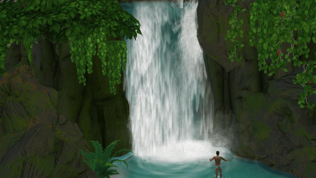 Cascade Sulani Sims 4 Iles Paradisiaques