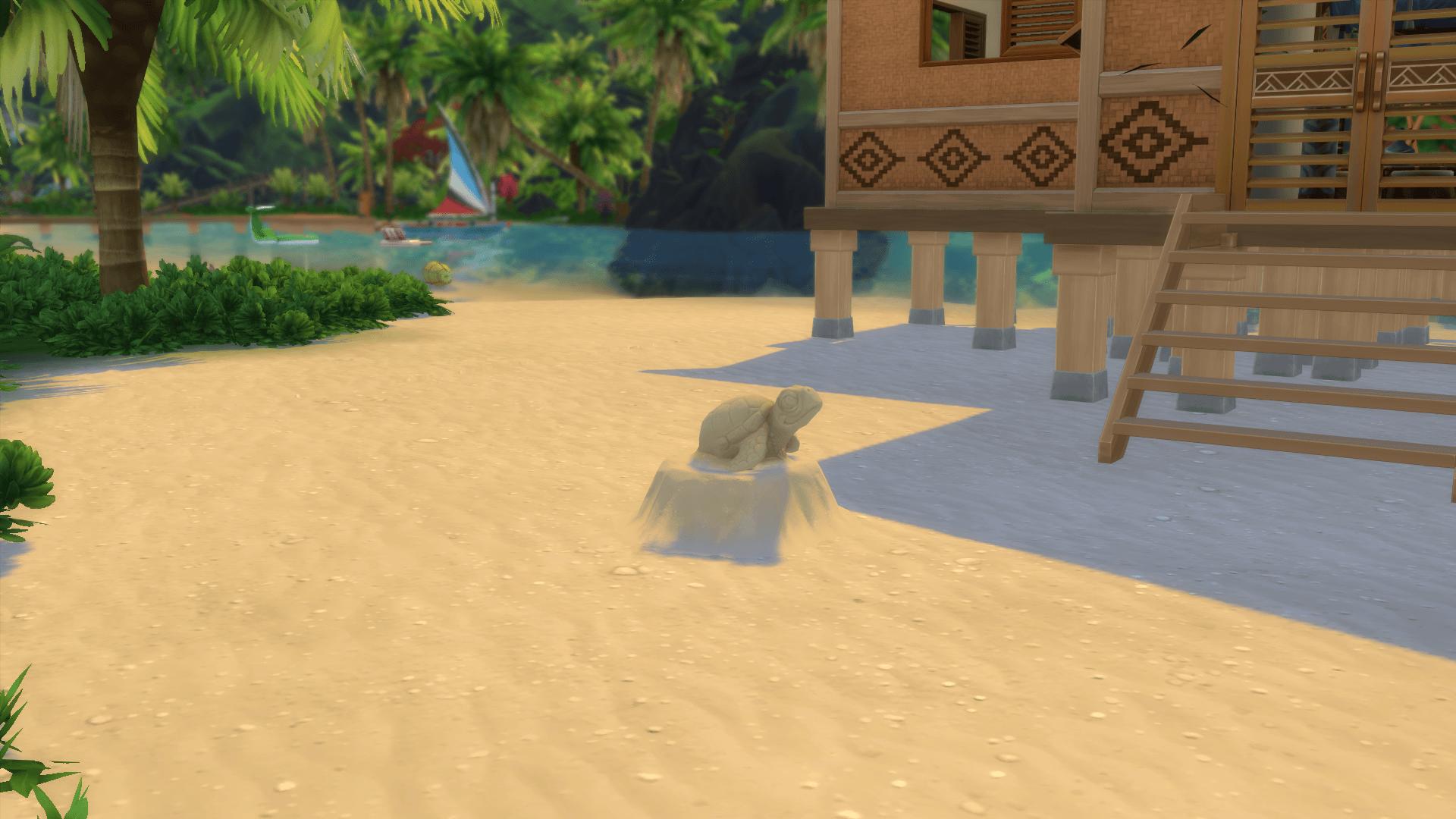Sculpture sable sims 4 iles paradisiaques