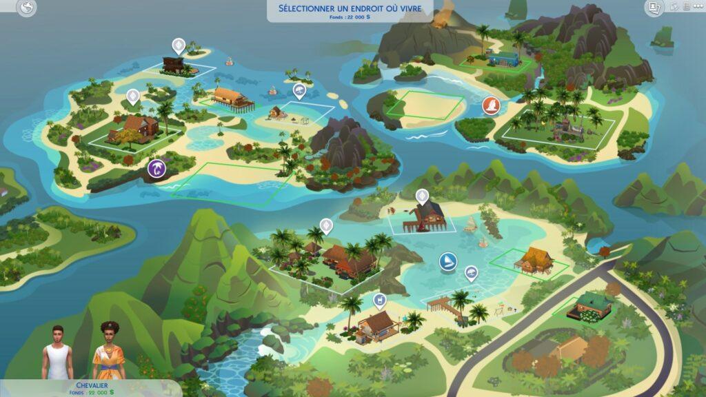 Carte Sulani Sims 4 Iles Paradisiaques