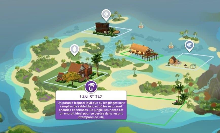 Lani St Taz Sulani Sims 4 Iles Paradisiaques