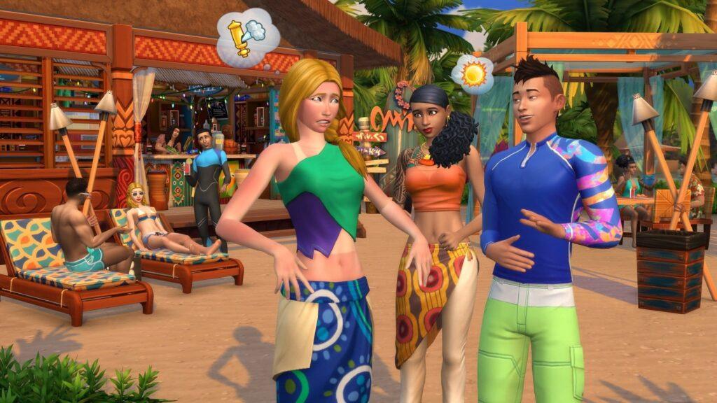 Coup de soleil Sims 4 Iles Paradisiaques
