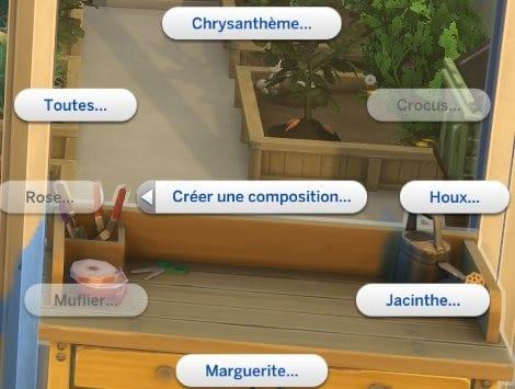 Créer une composition Sims 4 Saisons