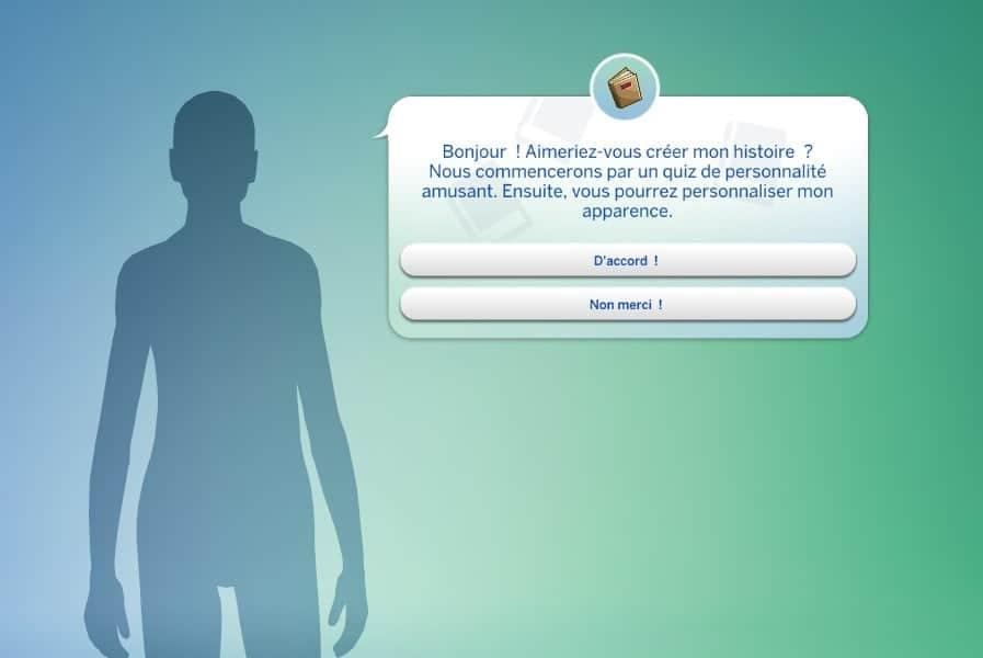 Créer une histoire Sims 4