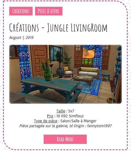 Le Monde de FannyChou'- Blog de Sims - Page 4 Jungle-livingroooooom