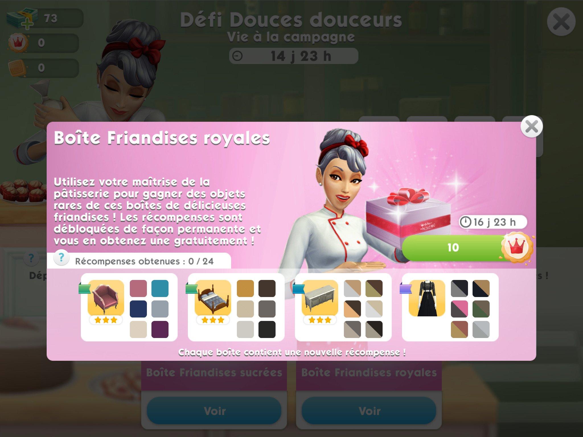 Les Sims Mobile : Le défi Douces Douceurs