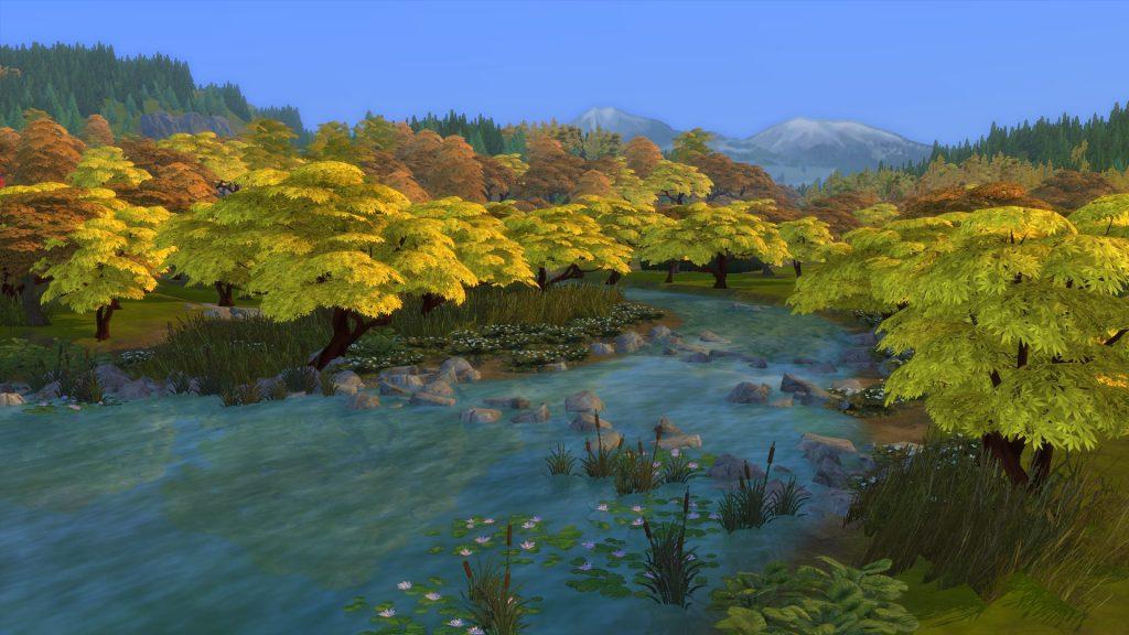 Zoom sur les paysages d'automne chez Les Sims 4