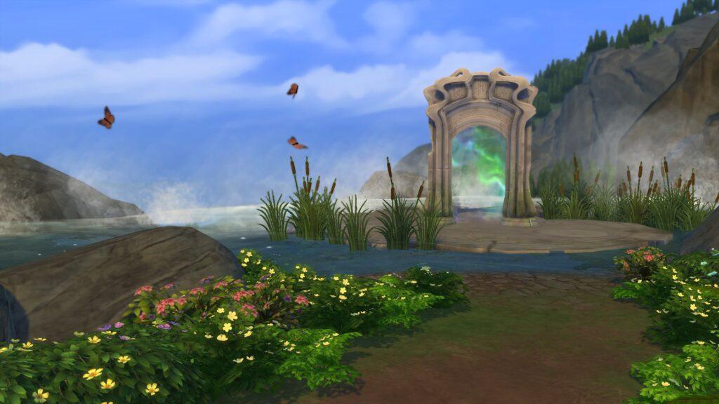 Portail Glimmerbrook sims 4 monde magique