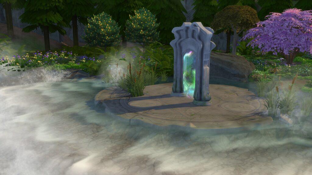 Glimmerbrook sims 4 monde magique portail