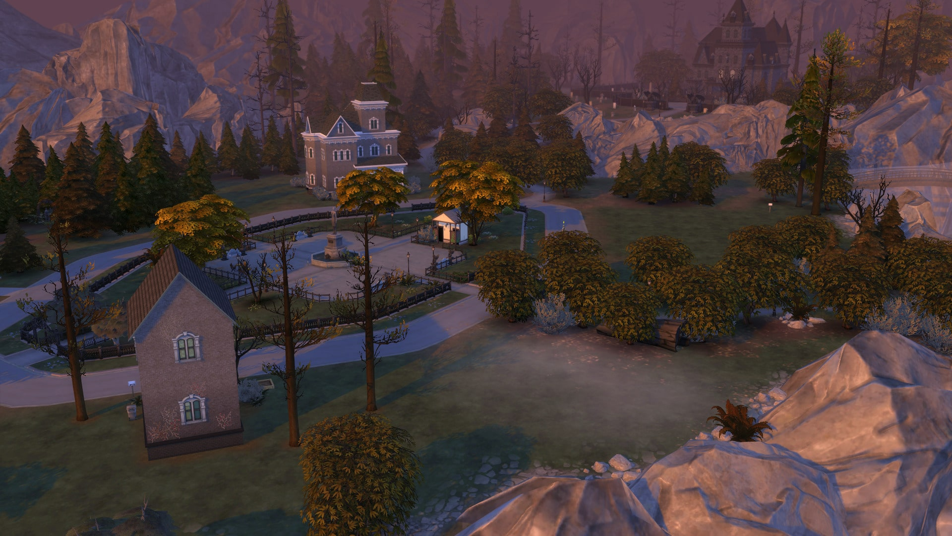 Forgotten Hollow automne Sims 4