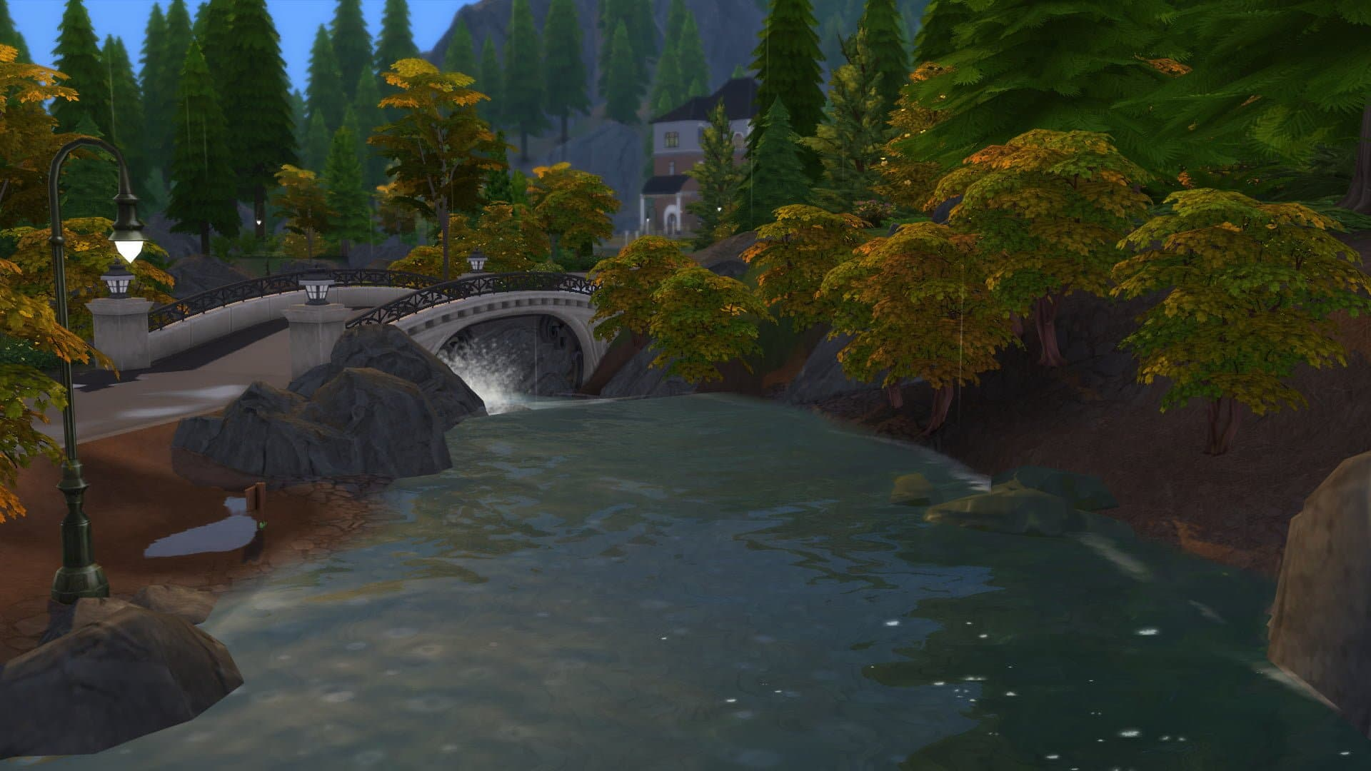 Glimmerbrook automne Sims 4