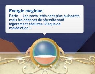 Energie magique forte sims 4 monde magique