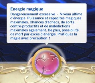 energie magique dangereusement excessive