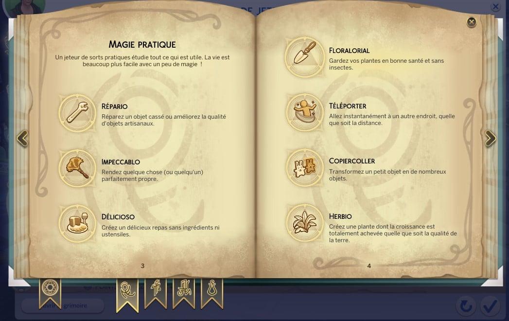 Magie pratique sims 4 monde magique