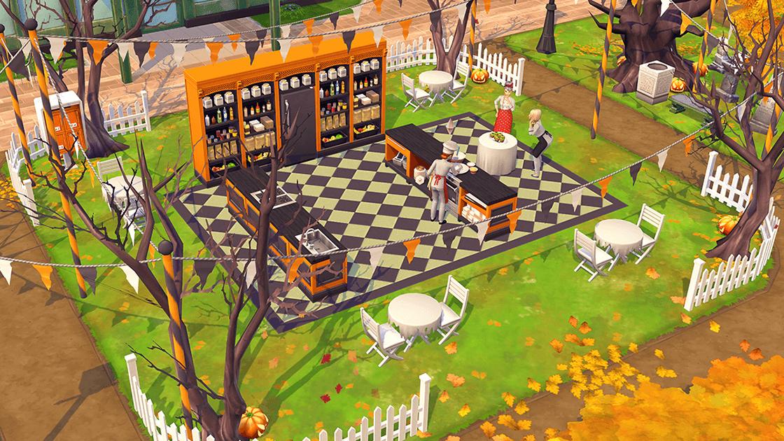 Halloween chez Les Sims Mobile