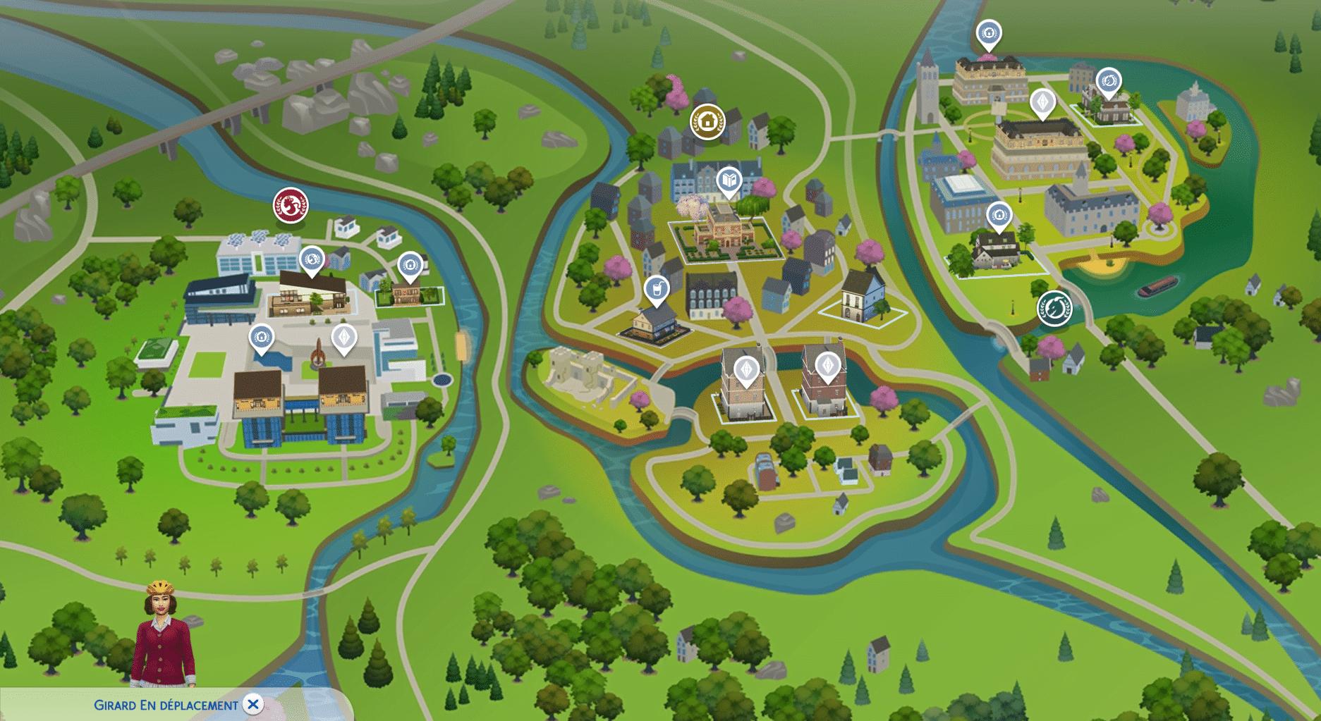 Carte Britechester Sims 4 À la Fac