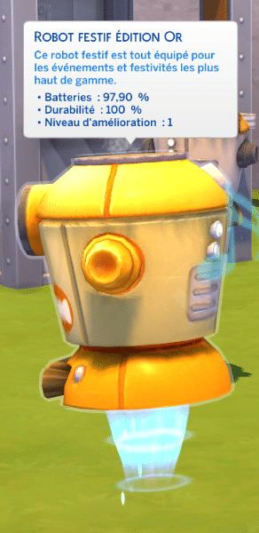 Robot festif sims 4 à la fac