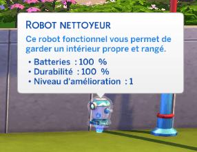 Robot nettoyeur sims 4 à la fac