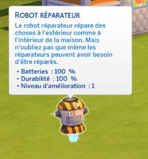 Robot réparateur sims 4 à la fac