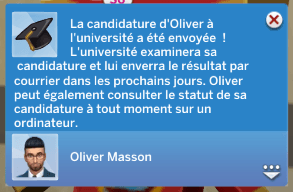 inscription université sims 4 à la fac
