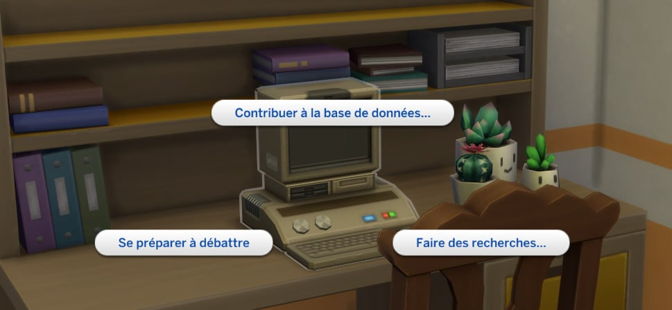 Les Sims 4 : À la fac Machine d'archivage