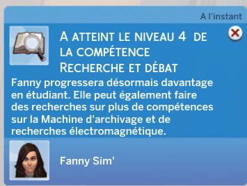 Les Sims 4 - Niveau 4 Recherche et débats