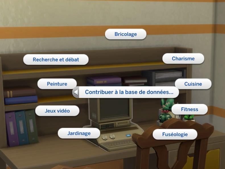 Les Sims 4 : À la fac - Contribuer base de données