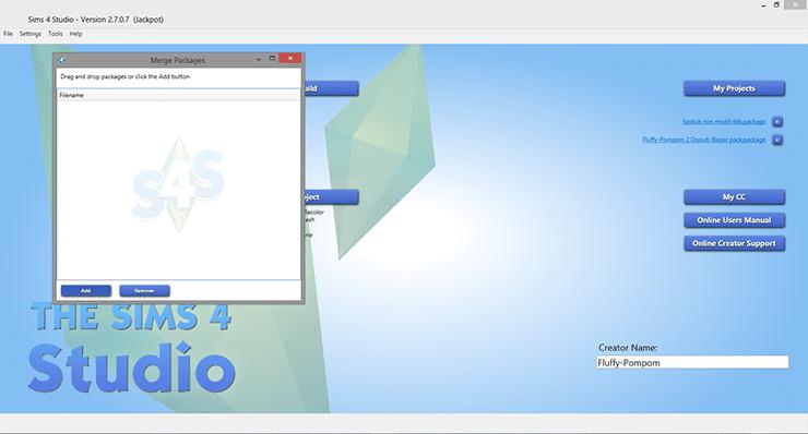 Compresser ses fichiers Package avec le Sims 4 Studio
