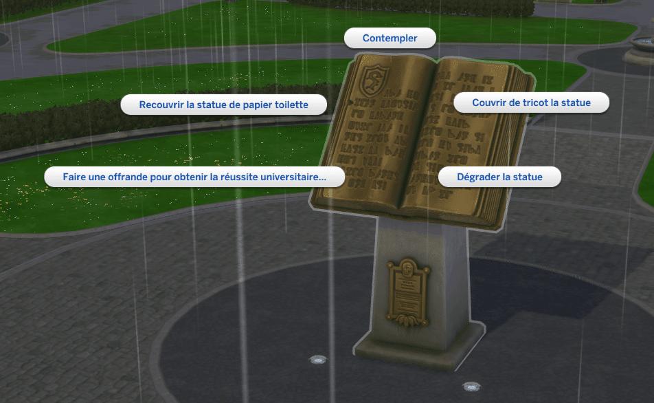 Faire une offrande Sims 4 À la Fac