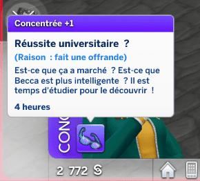 Réussite universitaire Sims 4 À la Fac