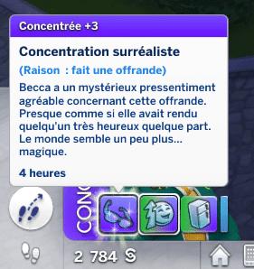 Concentration surréaliste Sims 4 À la Fac
