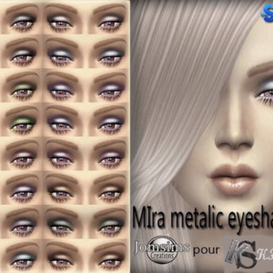 MIRA metallic eyeshadows