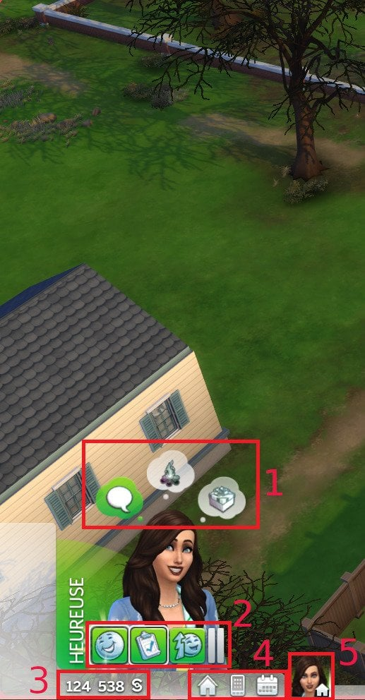 Interface Sims 4
