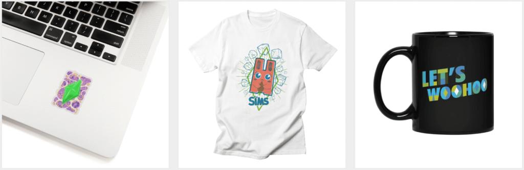 Mug sticker t-shirt sims 4